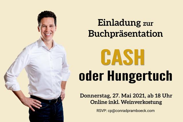 """Einladung zur Buchpräsentation """"Cash oder Hungertuch"""""""